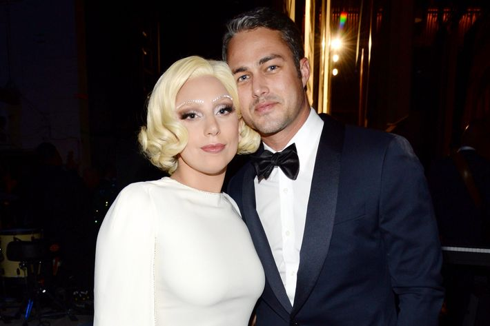 Lady Gaga and her main person, Taylor Kinney.