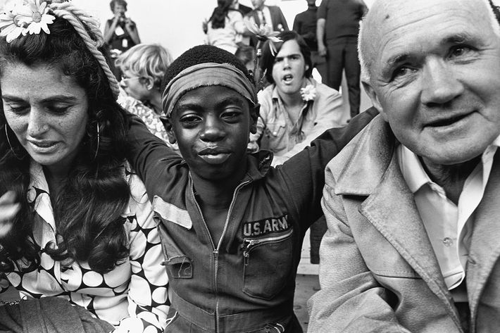 Jeanette Seaver and Jean Genet, Democratic National Convention, Chicago, 1968.