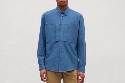COS Relaxed Shirt with Front Pockets