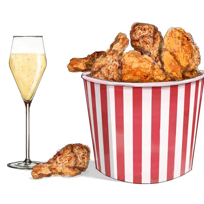 Why Champagne Is Perfect To Drink With Fried Chicken