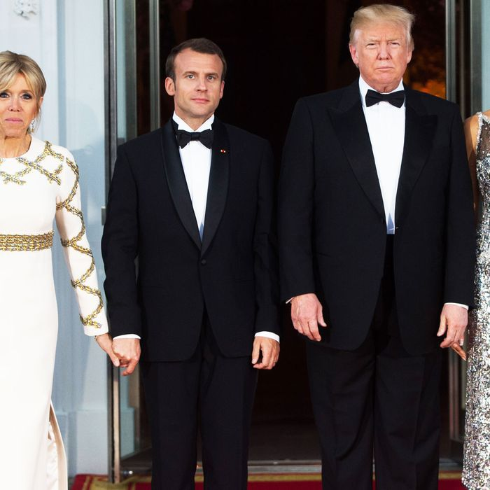Brigitte Macron, Emmanuel Macron, Donald Trump, Melania Trump