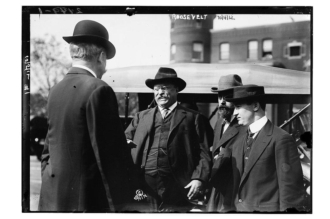 speech by theodore roosevelt february 22 1912 1912 republican convention: a fight, a split and a bull june 18-22, 1912 in february 1912, roosevelt told the nation he would accept the.