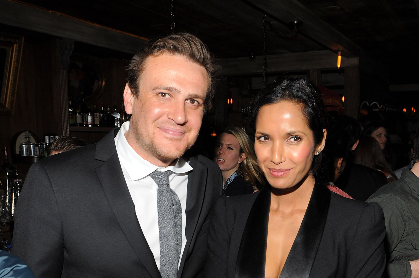 Jason Segel celebrates at Sons of Essex.