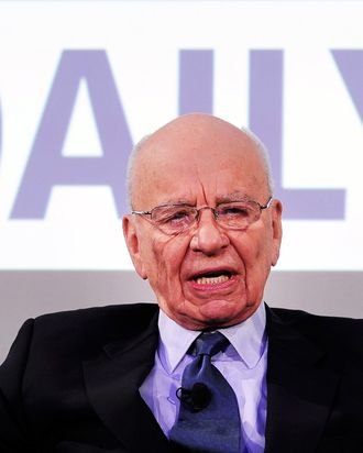 News Corp Chairman and CEO Rupert Murdoch speaks during the press conference announcing the launch of