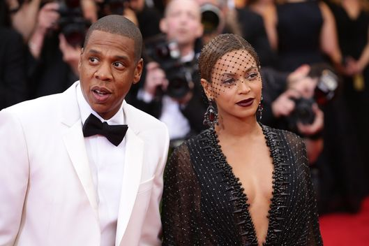 "NEW YORK, NY - MAY 05:  Beyonce and Jay-Z attend the ""Charles James: Beyond Fashion"" Costume Institute Gala at the Metropolitan Museum of Art on May 5, 2014 in New York City.  (Photo by Neilson Barnard/Getty Images)"
