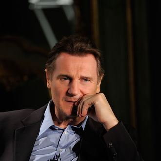 LONDON, ENGLAND - NOVEMBER 18: Actor Liam Neeson attends the press conference to announce the 2012 European Tour of Jeff Wayne's musical version of War Of The Worlds New Generation with Liam Neeson and Jeff Wayne, at One Marylebone on November 18, 2011 in London, England. (Photo by Gareth Cattermole/Getty Images)