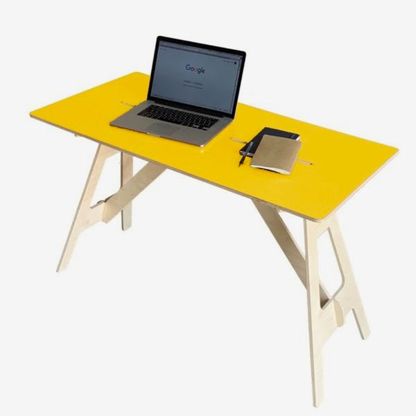 Trinx Work From Home Desk, Yellow