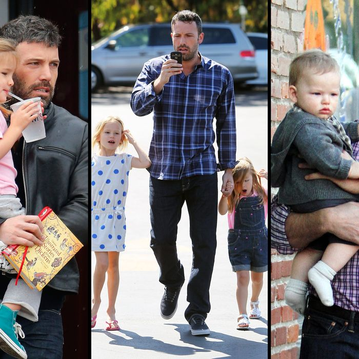 Ben Affleck takes baby son Samuel Affleck to dinner with wife Jennifer Garner and his daughters Violet Affleck and Seraphina Affleck in Pacific Palidades, California. <P> Pictured: Ben Affleck and Samuel Affleck <P><B>Ref: SPL452420 271012 </B><BR/> Picture by: Headlinephoto / Splash News<BR/> </P><P> <B>Splash News and Pictures</B><BR/> Los Angeles:310-821-2666<BR/> New York:212-619-2666<BR/> London:870-934-2666<BR/> photodesk@splashnews.com<BR/> </P>