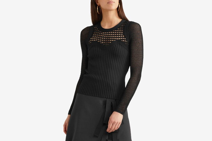Narciso Rodriguez Open Knit Blouse