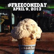 It's Free Cone Day at Ben &
