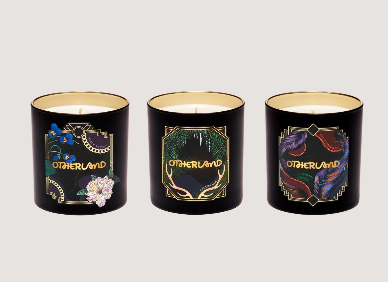 Otherland Gilded Holiday Collection Candles