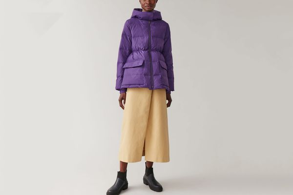 Cos Padded Hooded Coat
