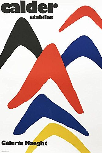 "Alexander Calder ""Stabiles"" Lithograph"