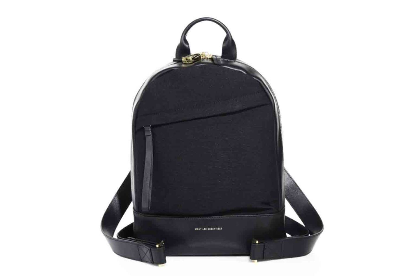 Want Les Essentiels Mini Piper Leather & Crepe Backpack
