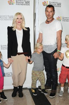 "Stella Stefani, Gwen Stefani, Zuma Rossdale, Gavin Rossdale and Kingston Rossdale attend the Elizabeth Glaser Pediatric AIDS Foundation's 24th annual ""A Time For Heroes"" at Century Park on June 2, 2013 in Los Angeles, California."