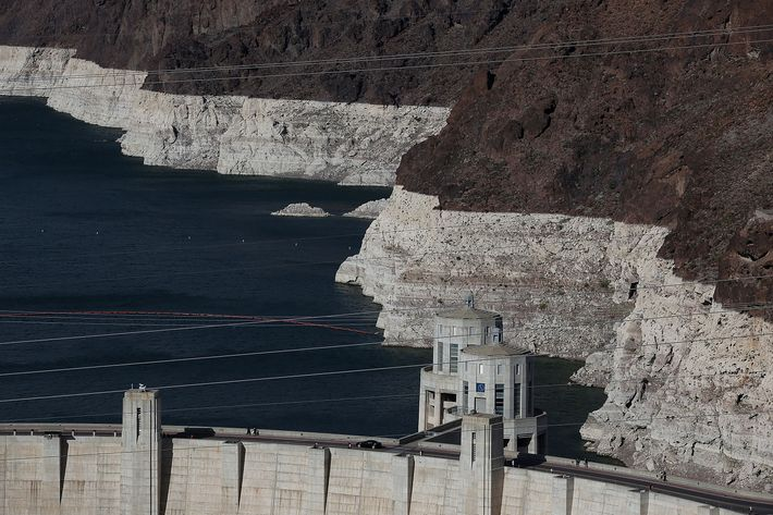 Lake Mead At Historic Low Levels Amid Drought In West