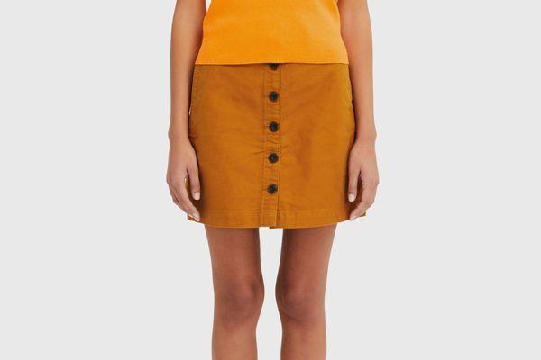 Women U Cotton Mini Skirt