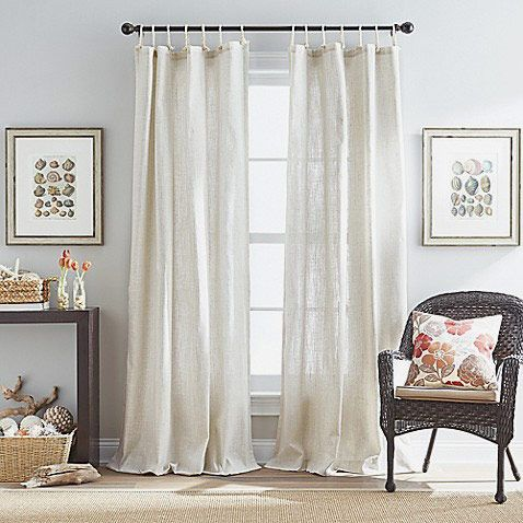 Seattle 84 Inch Tie Tab Window Curtain Panel