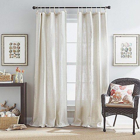 Seattle 84-Inch Tie Tab Window Curtain Panel