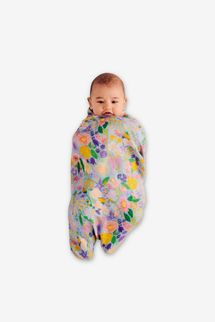 Kip&Co Meadow Blue Bamboo Baby Swaddle