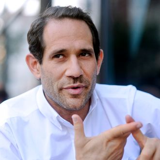 Dov Charney, chairman and chief executive officer of American Apparel Inc., stands for a portrait in a company retail store in New York, U.S., on Thursday, July 29, 2010. Starting the company in a dorm at Tufts University in Medford, Massachusetts, Charney built a worldwide empire of 280 clothing stores by leaping out ahead of mainstream fashion. He personified the racy, risk-taking aesthetics of his business and is now facing the consequences - skittish lenders and investors who doubt his ability to oversee his own creation. Photographer: Keith Bedford/Bloomberg via Getty Images