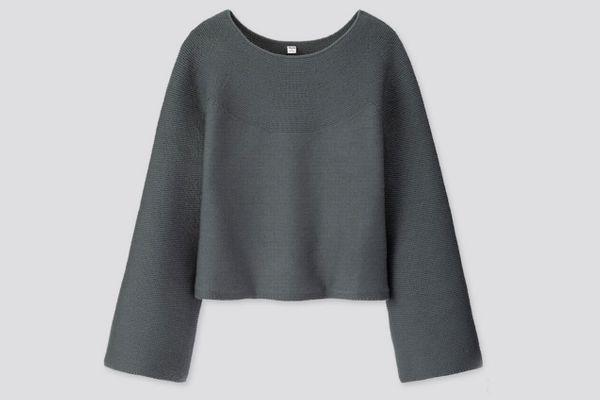 Women U 3D Extra Fine Merino Wide-Sleeve Sweater
