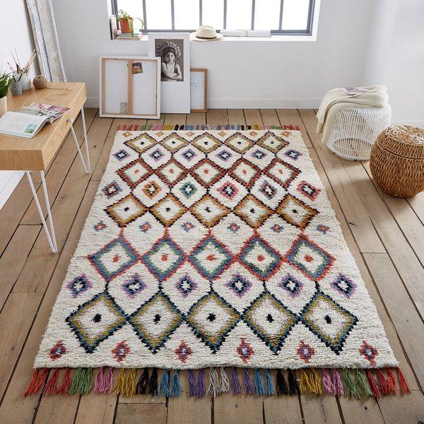 Ourika Berber-Style Wool Rug
