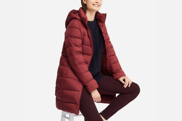 Uniqlo Women's Ultra Light Down Hooded Coat