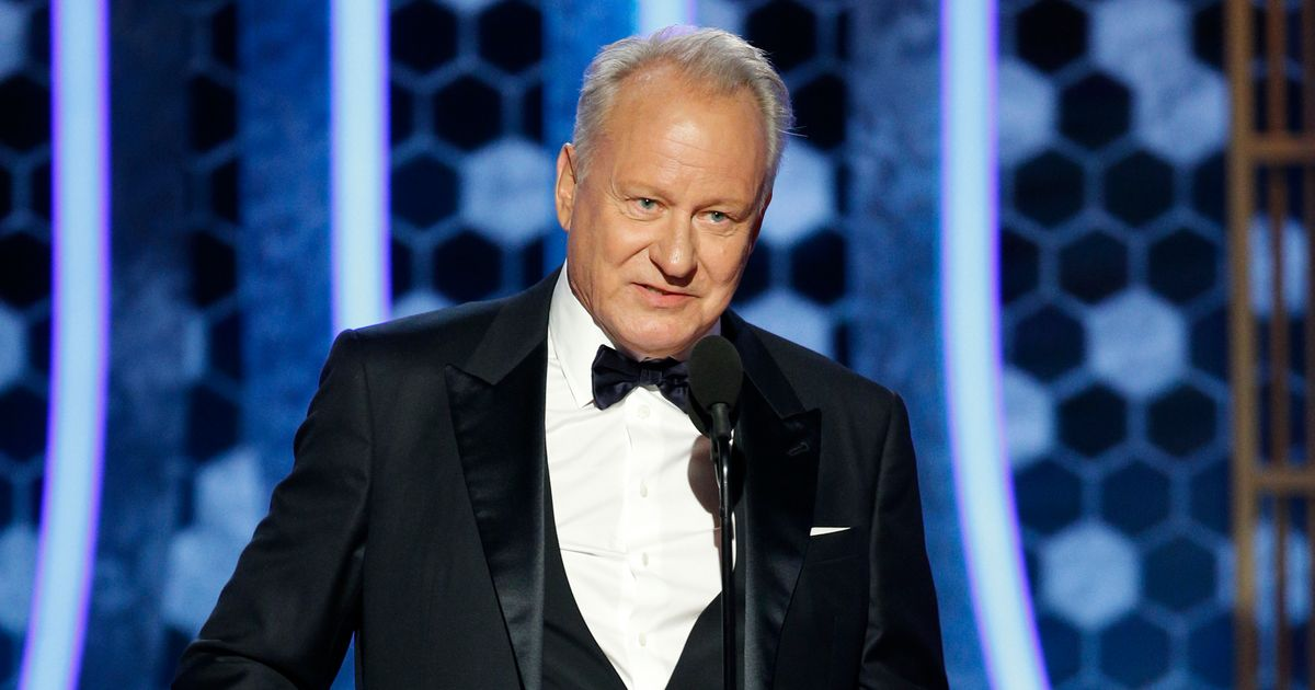 Stellan Skarsgård Knows He Owes His Golden Globe to His Chernobyl Eyebrows