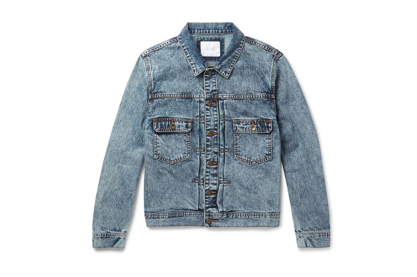 Saturdays NYC Ray Acid-Washed Denim Jacket
