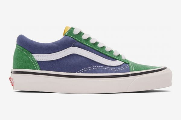 Vans Green & Blue Old Skool Sneakers