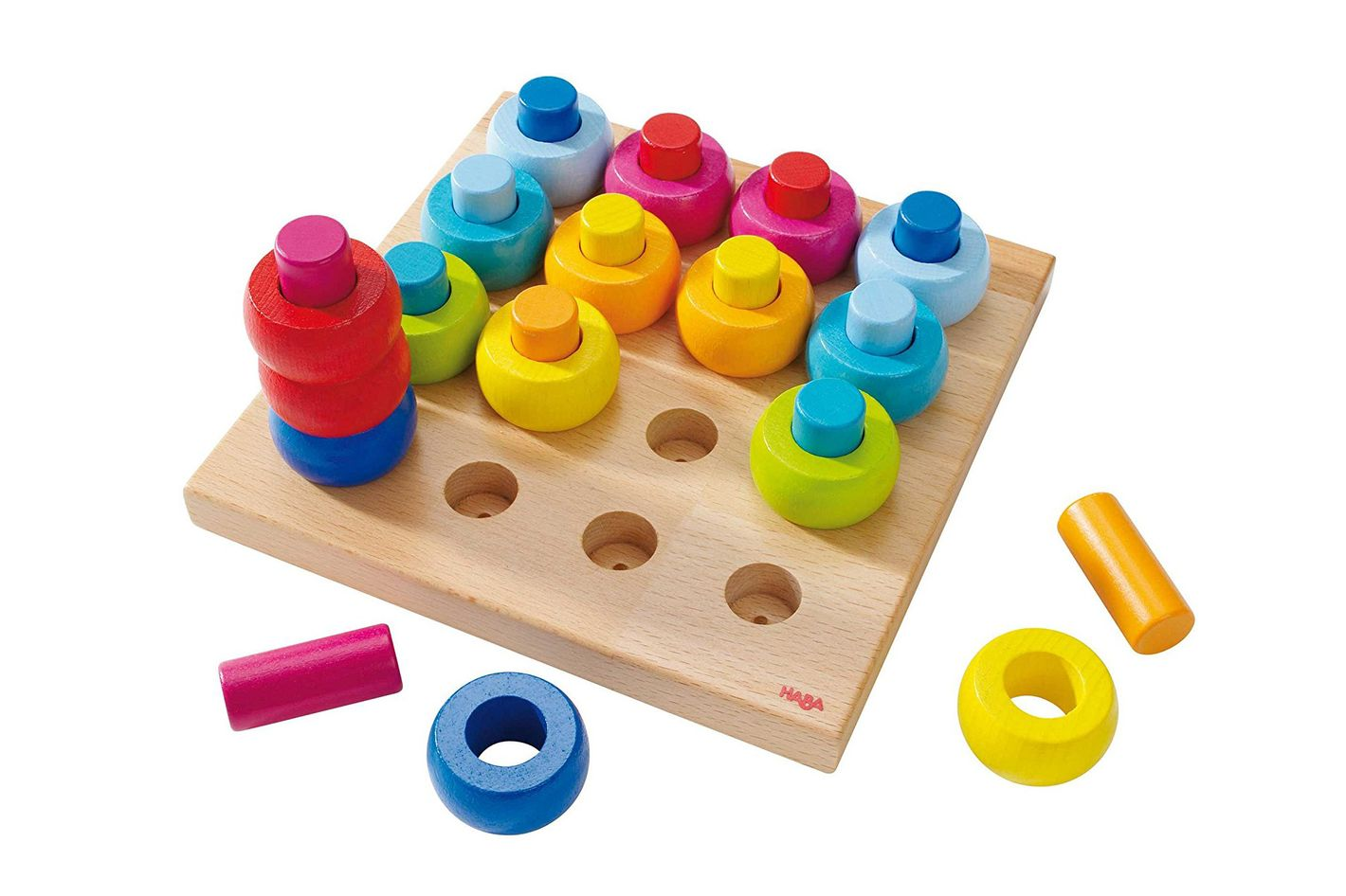 Rainbow Whirls Pegging Game - Best Gifts for Two Year Olds