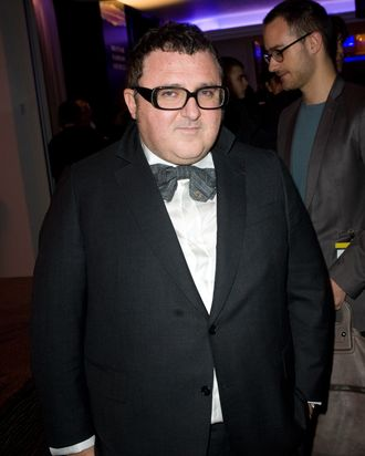 LONDON - NOVEMBER 8: Alber Elbaz, artistic director of Lanvin, attends the cocktail reception of the International Herald Tribune Heritage Luxury Conference at the InterContinental Hotel on November 8, 2010 in London, England. (Photo by Samir Hussein/Getty Images for International Herald Tribune) *** Local Caption *** Alber Elbaz