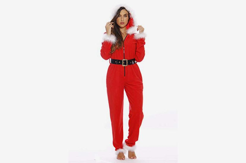 Just Love Holiday Sexy Santa Adult Onesie Pajamas