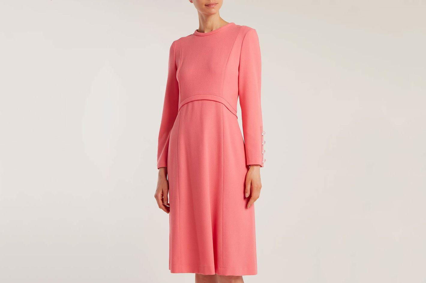 GOAT  Golightly wool-crepe dress