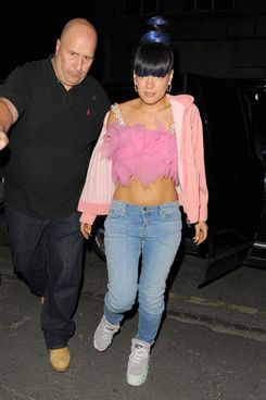 Lily Allen seen arriving to her afterparty at Loft Studios on April 29, 2014 in London, England.