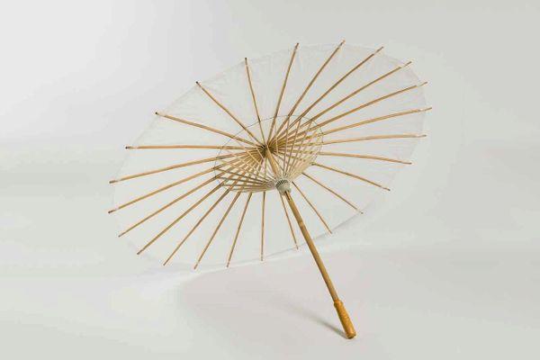 """Quasimoon 20"""" White Paper Parasol Umbrella"""