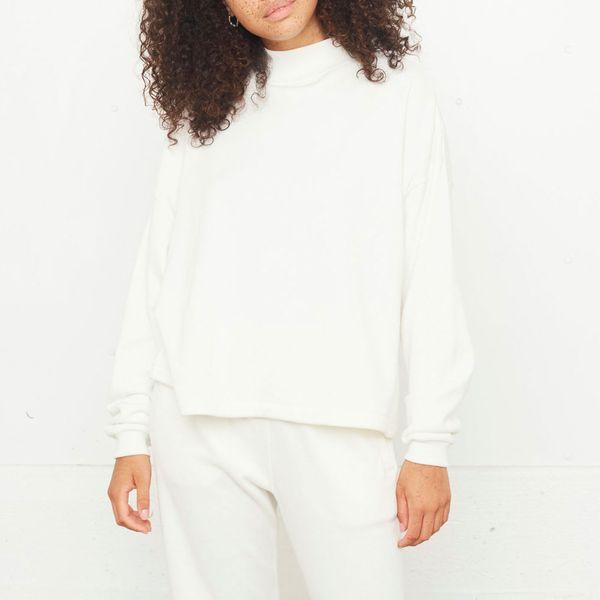 Loop Back Mockneck Sweatshirt