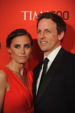 Alexi Ashe and Seth Meyers attend the TIME 100 Gala celebrating TIME'S 100 Most Influential People In The World at Jazz at Lincoln Center on April 24, 2012 in New York City.