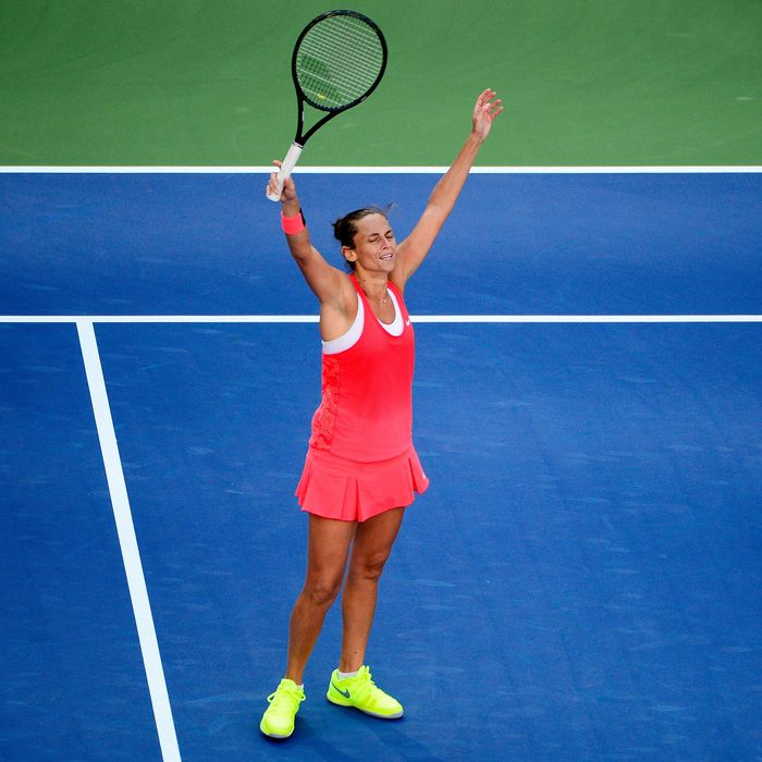 An elated Roberta Vinci.