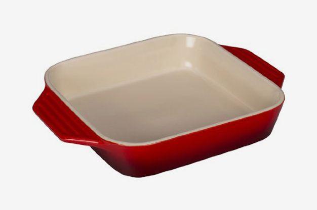 Le Creuset Stoneware Square Dish, 9.5-Inch, Cerise (Cherry Red)