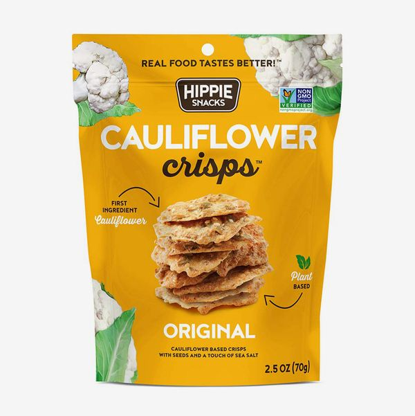 Hippie Snacks Cauliflower Crisps Original Flavor, 2.5oz Bags (6-Pack)