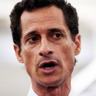 Anthony Weiner, a leading candidate for New York City mayor, answers questions at a press conference on July 23, 2013 in New York City. Weiner addressed news of new allegations that he engaged in lewd online conversations with a woman after he resigned from Congress for similar previous incidents.