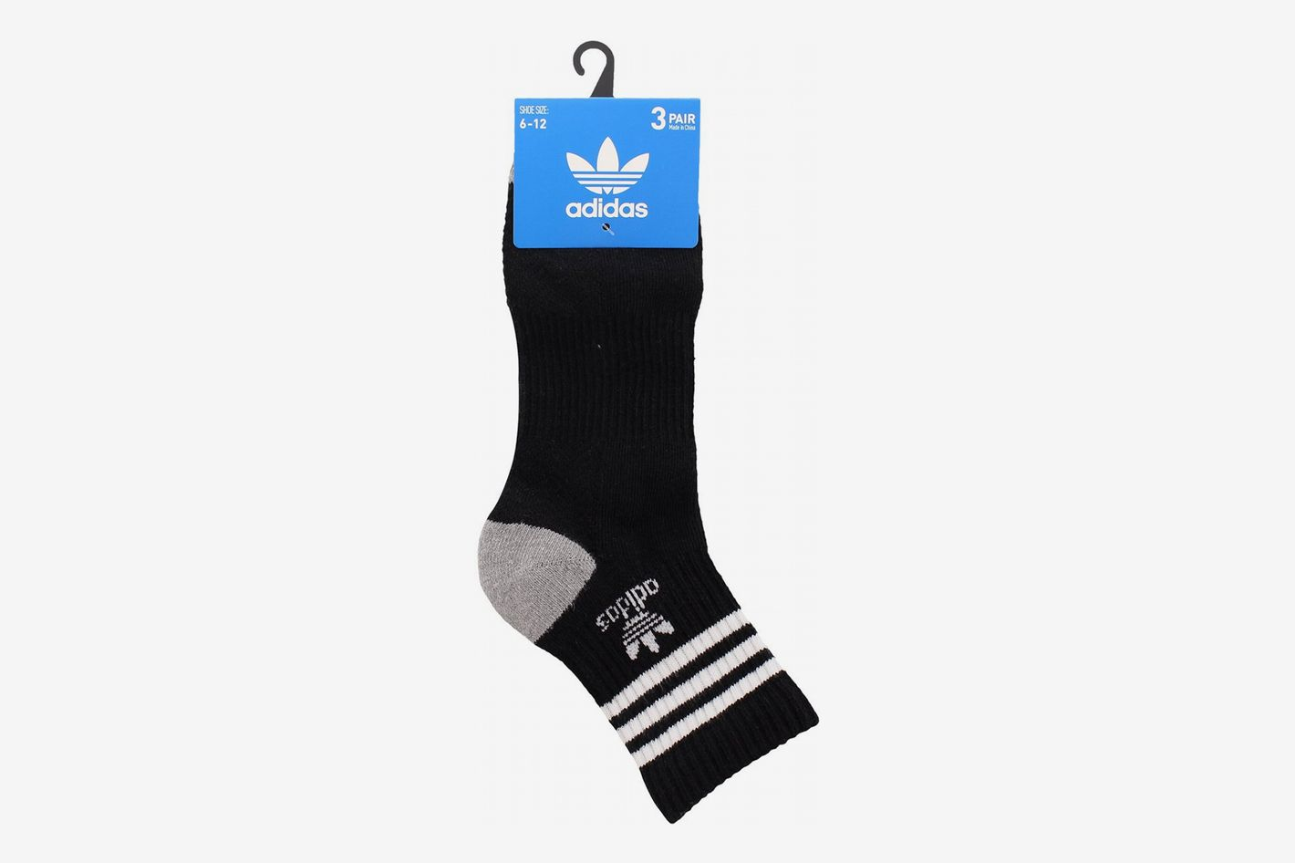 Adidas Men's Originals Cushioned High Quarter Socks