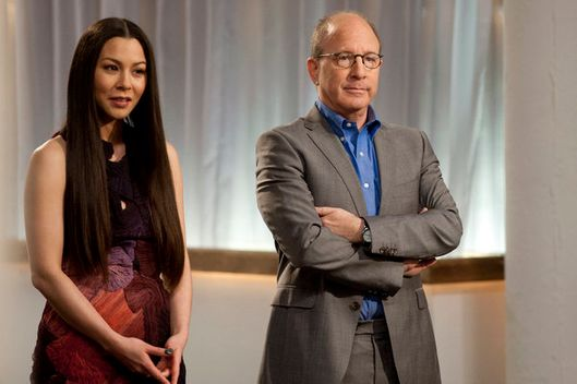 "WORK OF ART -- ""Kitsch Me If You Can"" Episode 201 -- Pictured: (l-r) China Chow, Jerry Saltz -- Photo by: David Giesbrecht /Bravo"