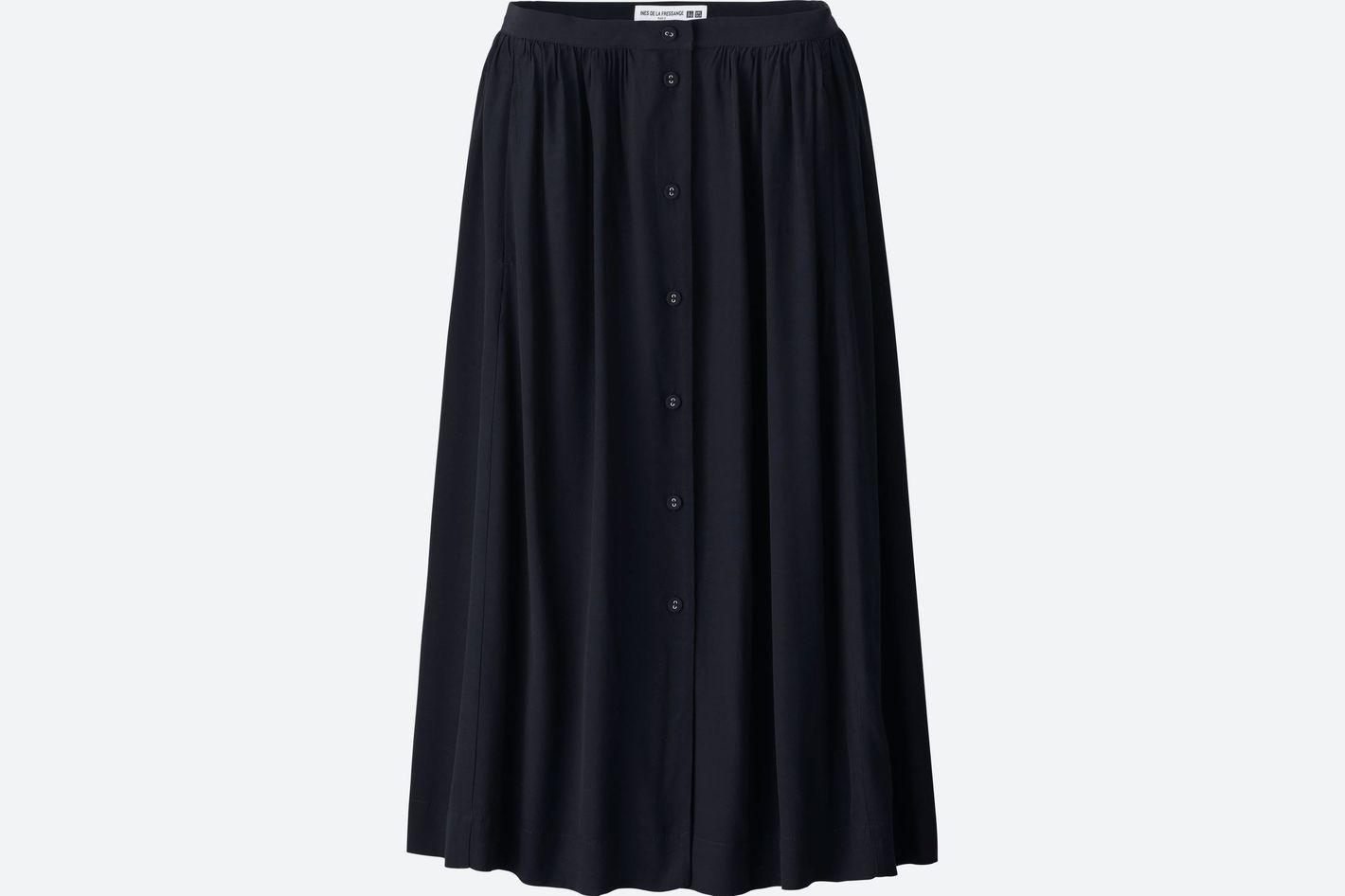 Women Cotton Gathered Skirt