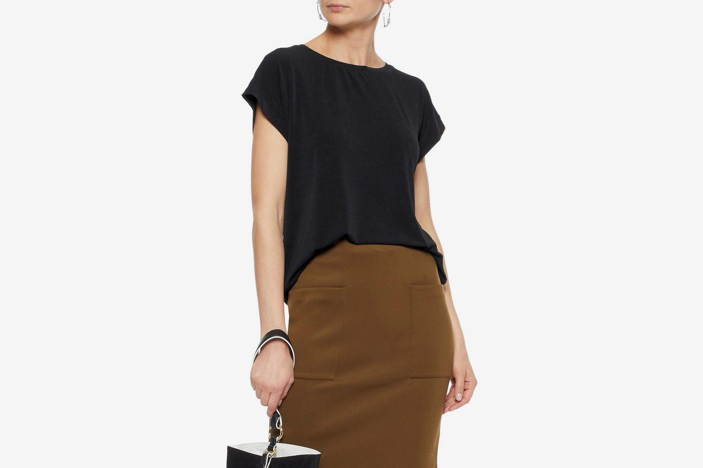 By Malene Birger Draped Cutout Crepe Shirt