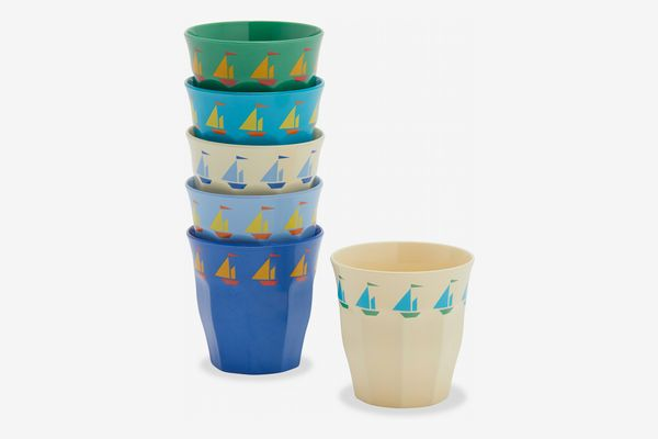 Drew Barrymore Flower Kids Sailboats Cup, 6 Pack