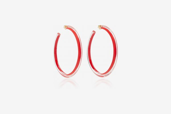 Alison Lou Large Jelly Lucite Hoop Earrings