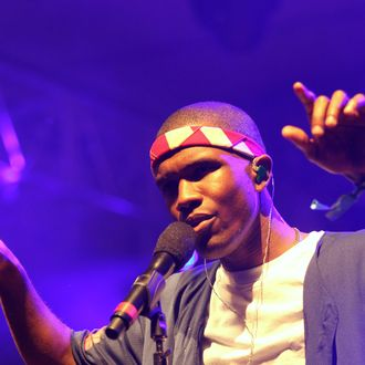 Singer Frank Ocean performs onstage at the 2012 Coachella Valley Music & Arts Festival held at The Empire Polo Field on April 13, 2012